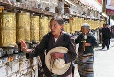 Architectuur van Klooster in Lhasa, Tibet stock foto's
