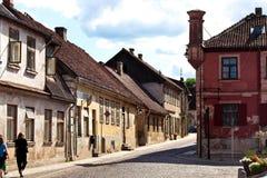 Architectuur van Kuldiga-stad, Letland Stock Afbeelding