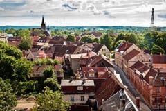 Architectuur van Kuldiga-stad, Letland Royalty-vrije Stock Foto's