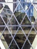 Architectuur van Londen, bedrijfsdistrict, 30 St Mary Axe Royalty-vrije Stock Foto's