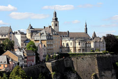 Architectuur van Luxemburg Stock Fotografie