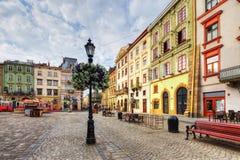 Architectuur van Lviv ukraine Stock Afbeeldingen