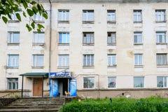 Architectuur van Magada, Russische Federatie royalty-vrije stock fotografie