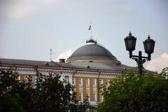 Architectuur van Moskou het Kremlin De Plaats van de Erfenis van de Wereld van Unesco stock fotografie