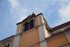 Architectuur van Moskou het Kremlin De Plaats van de Erfenis van de Wereld van Unesco stock afbeeldingen