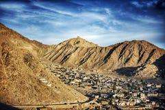 Architectuur van oud kapitaal van het Koninkrijk van Budhhist Ladakh in Himalayagebergte Stock Foto's