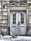Architectuur van oude Lvov Stock Afbeeldingen