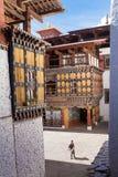 Architectuur van Paro Dzong royalty-vrije stock afbeelding