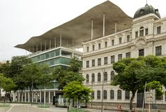 Architectuur van Rio de Janeiro-stadscentrum, Brazilië Royalty-vrije Stock Afbeelding