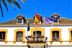 architectuur van San Pedro de Alcantara, Costa del Sol, Spanje Stock Afbeeldingen