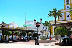 architectuur van San Pedro de Alcantara, Costa del Sol, Spanje Stock Foto's