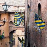 Architectuur van Siena Toscanië stock afbeeldingen