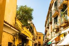 Architectuur van Sorrento, Italië Sorrento is een populaire toeristische bestemming op de Amalfi Kust royalty-vrije stock foto's