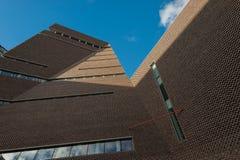 Architectuur van Tate-de museumbouw in Londen Stock Afbeelding