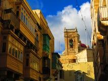Architectuur van Valletta, Malta royalty-vrije stock afbeeldingen