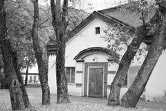 Architectuur van VDNH-park in Moskou Royalty-vrije Stock Afbeeldingen