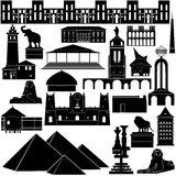 Architectuur van wereld-3 Royalty-vrije Stock Afbeelding