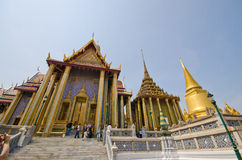 Architectuur in Wat Phra Kaew, Bangkok, Th. Stock Foto