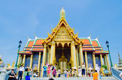 Architectuur in Wat Phra Kaew, Bangkok, Th. Stock Fotografie