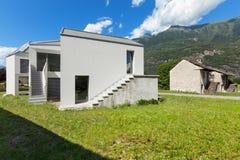 Architectuur, wit huis stock fotografie