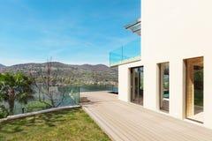 Architectuur, wit huis, openlucht stock foto