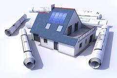 Architectuur zonne Stock Foto's