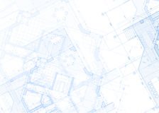 Architectuurblauwdruk - huisplan Royalty-vrije Stock Afbeeldingen