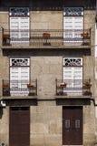 Architectuurbloemen Guimaraes Portugal Stock Foto