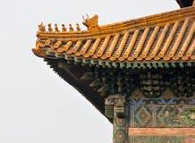 Architectuurdetail van de Chinese traditionele bouw Stock Foto's