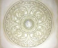 Architectuurdetails: decoratieve celings Royalty-vrije Stock Fotografie