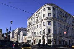 Architectuurdetails van gebouwen van Moskou Stock Afbeelding