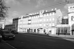 Architectuurdetails van gebouwen van Moskou Stock Foto