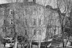 Architectuurdetails van gebouwen van Moskou Royalty-vrije Stock Afbeeldingen