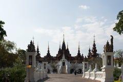 Architectuurhotel in chiangmai royalty-vrije stock afbeeldingen