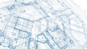 Architectuurontwerp: blauwdrukplan stock videobeelden