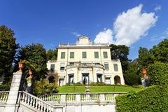 Architectuurontwerp in Cadenabbia, meer Como, Italië stock foto's