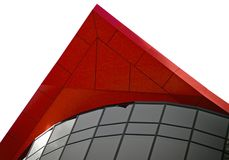 Architecural Merkmal des roten Höchstgebäudes stockfotografie