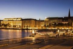 Architecutre από Binnenalster στο Αμβούργο Στοκ φωτογραφία με δικαίωμα ελεύθερης χρήσης