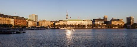 Architecutre από Binnenalster στο Αμβούργο Στοκ φωτογραφίες με δικαίωμα ελεύθερης χρήσης
