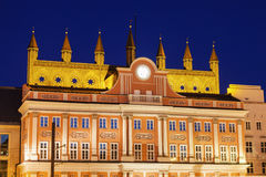 Architecutre of Rostock - Rathaus on Neuer Markt Stock Images