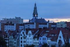 Architecutre Szczecin στο ηλιοβασίλεμα Στοκ φωτογραφία με δικαίωμα ελεύθερης χρήσης