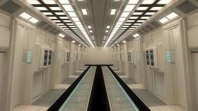 architekci futurystyczny wnętrze Zdjęcia Royalty Free