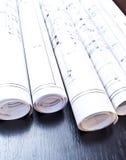Architektów plany i projektów projekty Obrazy Royalty Free