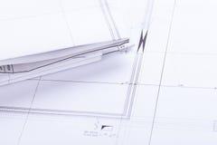 Architektów projektów wyposażenie protestuje miejsce pracy Obraz Royalty Free