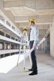 Architekt auf Baustelle Lizenzfreie Stockbilder