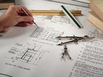 Architekt bei der Arbeit Stockfotos