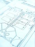 architekt budowę hotelu na plan Zdjęcia Royalty Free