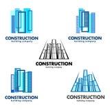 Architekt budowy pojęcie Wektorowi logowie dla budowy i budynku firm Obrazy Stock