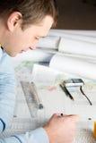 Architekt in der Arbeit. Lizenzfreie Stockfotos
