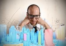 Architekt i nowy projekt zdjęcia royalty free